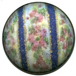 502 Coralene on Porcelain set on metal floral & stripes front from Barrans