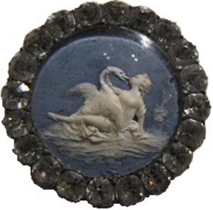 Leda and Zeus as the swan medium jasper paste border [4609734]