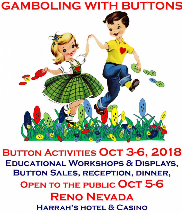 2018 Western Regional Button Association Show and Sale, Reno October 5-6