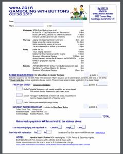 2018 WRBA Registration Form