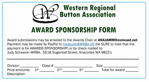 WRBA Award Sponsor Form