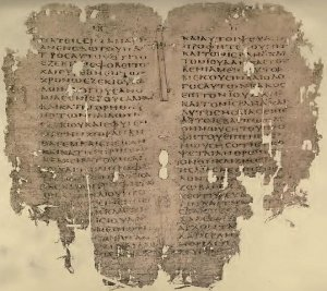 Greek text of Acts 2:11–22 in Uncial 076, written in 5th/6th century.